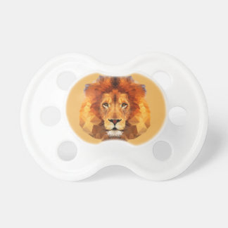 Brown Lion Head On Any Color Background Pacifiers