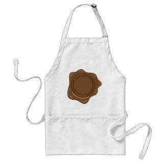 Brown liquid wax seal vintage standard apron