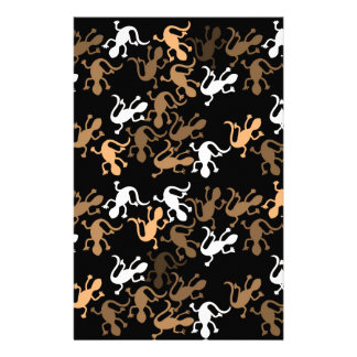 Brown lizards pattern customized stationery