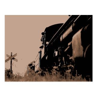 Brown Locomotive Postcard