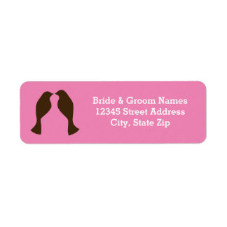 Brown Love Birds - Address Labels