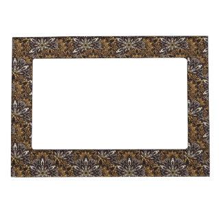 Brown mandala pattern magnetic frame
