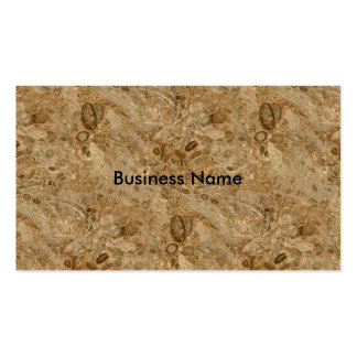 Brown Marble Fossil Look Pack Of Standard Business Cards