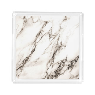 Brown Marble Look Acrylic Tray