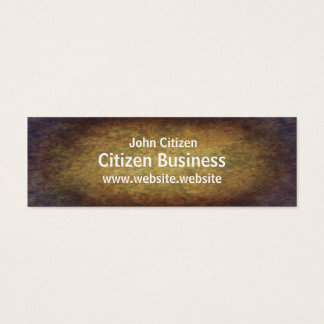 Brown marbled grunge texture mini business card
