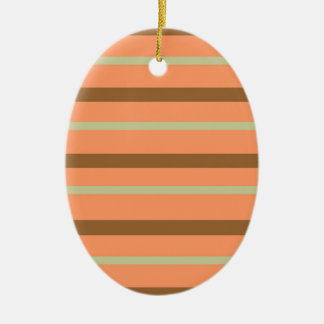 Brown Melon Stripe Ceramic Ornament