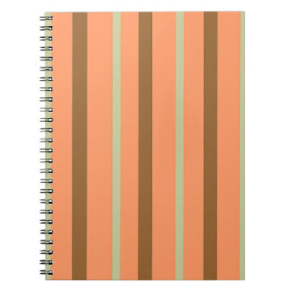 Brown Melon Stripe Notebooks