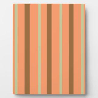 Brown Melon Stripe Plaque