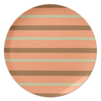 Brown Melon Stripe Plate