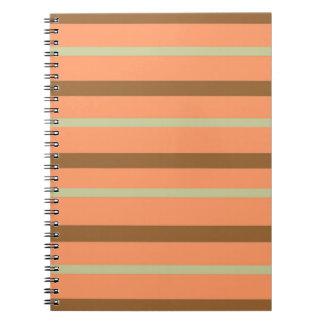 Brown Melon Stripe Spiral Notebook