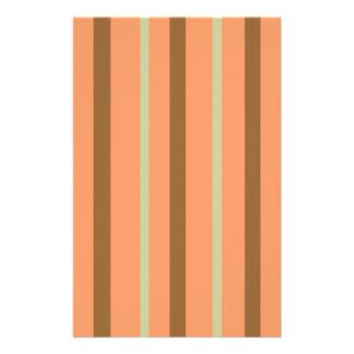 Brown Melon Stripe Stationery