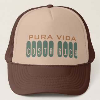 Brown Men's Costa Rica Souvenir Pura Vida Trucker Hat