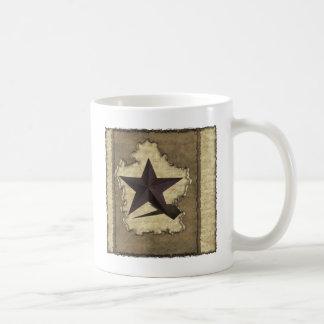 Brown Metal Star Western Coffee Mug