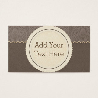 Brown Mocha Business Cards