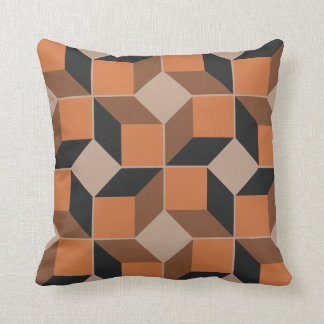 Brown Module Throw Pillow