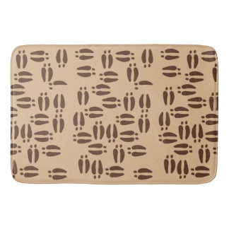 Brown Moose Tracks Patterned Bath Mat