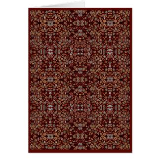 Brown Mosaic Generative Art Card, Blank Interior Card