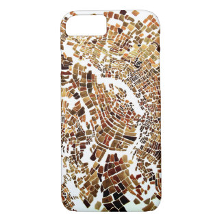 brown mosaic iPhone 7 case
