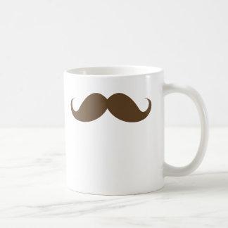 Brown mustache mug