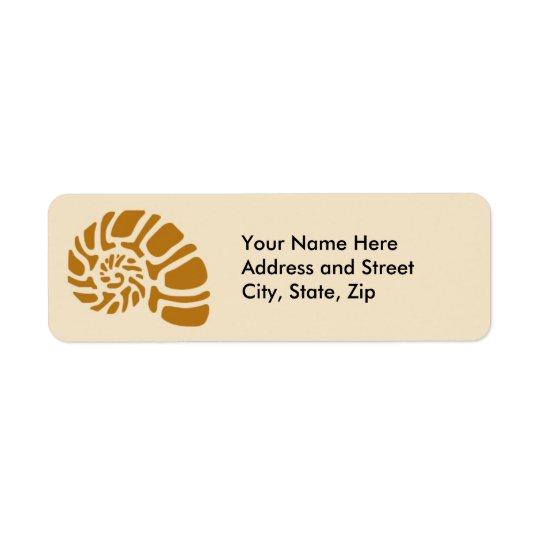 Brown Nautilus Return Address Label