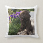 Brown Newfoundland Dog Pup Cushion