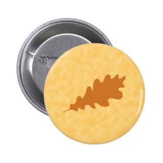 Brown Oak Leaf Design Buttons