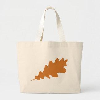 Brown Oak Leaf Design Tote Bags