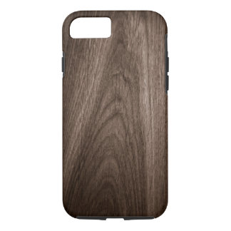 Brown oak wood grain texture iPhone 7 case