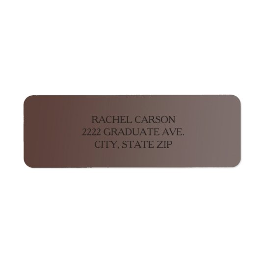 Brown Ombre' Return Address Labels
