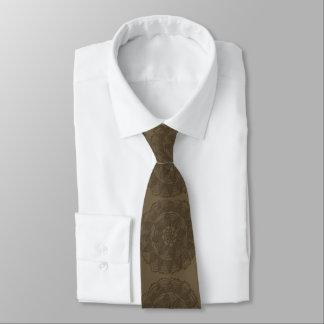 Brown on brown mandala tie