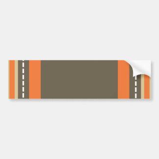 Brown & Orange Monogram Bumper Sticker