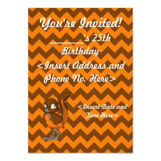 Brown/Orange Reptilian Bird Invitation
