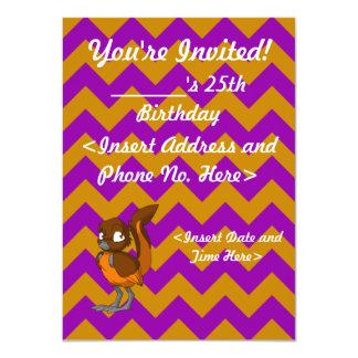 Brown/Orange Reptilian Bird Invitation 2