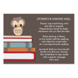 Brown Owl Baby Shower Book Insert Request Card