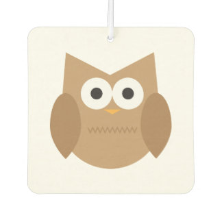 Brown Owl Car Air Freshener
