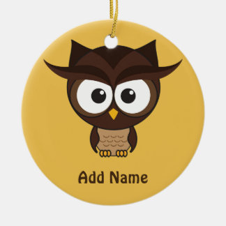 Brown Owl Ornaments