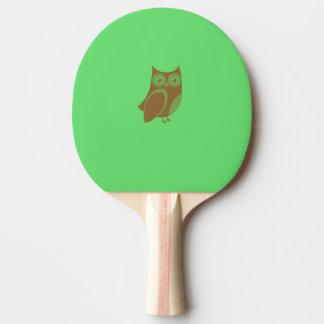 Brown Owl Ping Pong Paddle