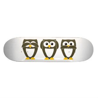 Brown Owl - See no evil, Hear no evil, Say no evil Skateboard Deck