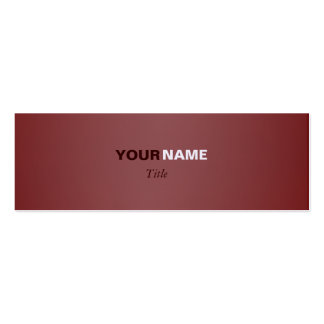 Brown Pack Of Skinny Business Cards