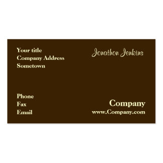 Brown Pack Of Standard Business Cards