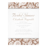 Brown Paisley Bridal Shower Invitations