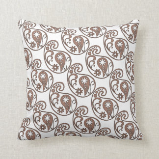 Brown Paisley Cushion