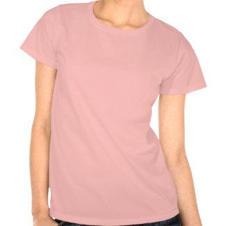 Brown Palm Tree on Pink Tee Shirt