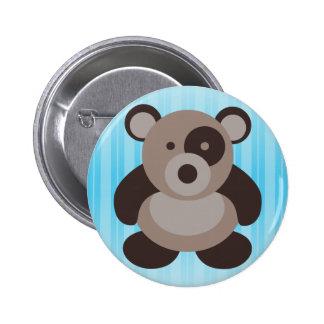 Brown Panda Bear Pinback Button