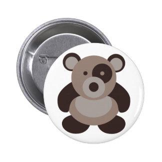 Brown Panda Bear Pins