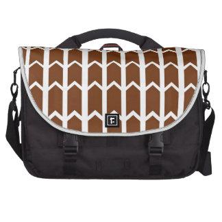 Brown Panel Fence Laptop Bag