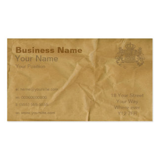 Brown Paper Business Card Templates