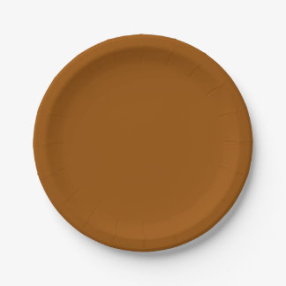 Brown Paper Plate