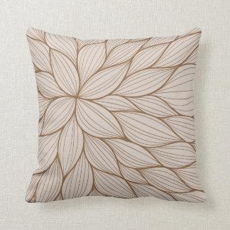 Brown Pastel Petal Watercolor Pillow