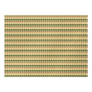 Brown pattern custom invitation